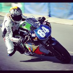#84 Woman on a motorcycle  Maria Costello MBE  Supertwin