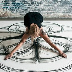 Emptied Gestures: Physical Movement Translated into Symmetrical Charcoal Drawings by Heather Hansen