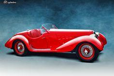 The Car: Alfa Romeo 8C 2900A Mille Miglia Spyder, #412015, 1937 12cylinders