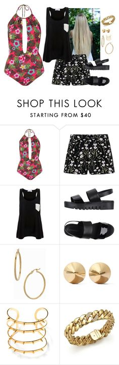 """montana ~ spring break"" by zoemund ❤ liked on Polyvore featuring Topshop, Giambattista Valli, Solid & Striped, Jeffrey Campbell, Bony Levy, Eddie Borgo, JustFab and Roberto Coin"