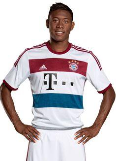FlagWigs  New Bayern Munich Away Jersy Shirt Kit 2014 2015 ... Camisetas a2b9f1fdc4f0a