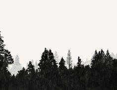 treeline silhouette vector - Google Search