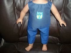 American Girl Doll Clothes Top and Capri by sue18inchdollclothes