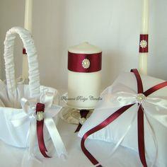 Wedding Unity Candle Holder Basket Pillow by PleasantRidgeCandles, $129.00
