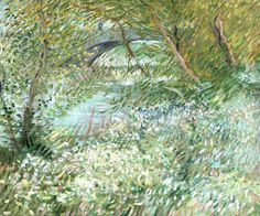 Riverbank in Springtime, Vincent van Gogh, 1887