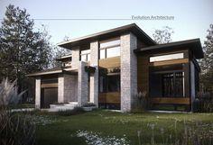 Evolution Architecture,maison contemporaine,création exclusive E-890