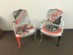 Graffiti chairs in store now