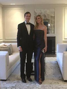 Ivanka Trump stunned in black alongside her husband Jared Kushner at the White House Gover...