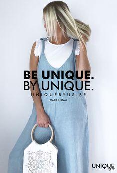 Hängselbyxor i linne. Passar alla och så bekväma. 100 % linne. Dungarees, How To Make, Tops, Women, Fashion, Moda, Women's, Fashion Styles, Bib Overalls