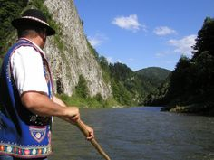 Dunajec river rafting in Pieninski National Park, Poland.