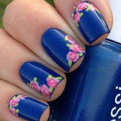 Uñas  rosas  #uñas -  #flores