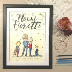 RITRATTO PER I NONNI/ Granmathergranfather portrait Parent