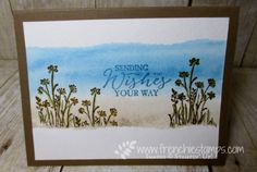 Stamp & Scrap with Frenchie: Watercolor Background and Painter Tape, In the Meadow