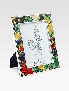 Oscar de la Renta - Floral Enameled Frame - Saks.com $175