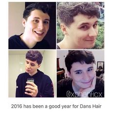 Dan can do whatever he wants with his hair. But, he has to know, IT'S JUST SO DANG CUTE LIKE DIS!