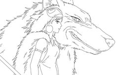Princess Mononoke Coloring Pages, from New Picts category. Barbie Coloring Pages, Mermaid Coloring Pages, Bird Coloring Pages, Pokemon Coloring Pages, Cat Coloring Page, Coloring Books, Tatoo Geek, Mononoke Anime, Wedding Coloring Pages