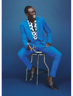 The Blue Suit Love this gay look
