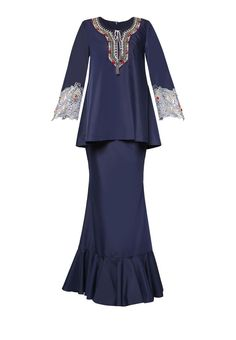 Zaqya Baju Kurung from Jovian Mandagie for Zalora in navy_6