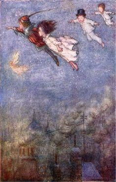 Peter Pan Flying Vintage Wall Art