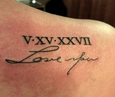 Little shoulder blade tattoo done in memory of Cassidys...