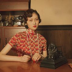 #vintagestyle #1930s #cheongsam #makeupdesign #advertisement  makeup&styling:me! phtographer:@choophy model:孔敬