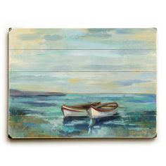 Found it at Wayfair - 'Boats at the Beach' Painting Print on Plague