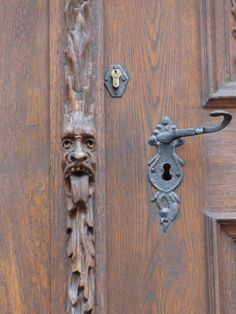 Detail carving of a rectory door in Prague, The Czech Republic / Julie Cook / 2012