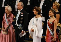 The Swedish royal family attend the 2006 Nobel Prize ceremonies
