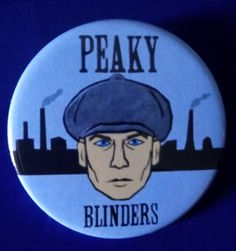 Peaky Blinders. Tommy Shelby with Cap. Custom 38mm Pin Badge. #peakyblinders #tommyshelby #thomasshelby #cillianmurphy
