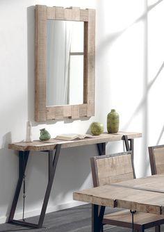 meubles en bois brut et fer vieilli un melange de bois brut et de fer vieilli