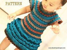 crochet childrens dresses - pattern