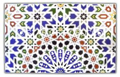 Click to see larger image   Royal Moorish Tiles Thank you for visiting our Moroccan tile collection.  This Moroccan mosaic tile, with its vibrant colors and intricate motifs, will embellish any space of your home. Use this Moroccan mosaic tile for any type of surface.  Please click on detail pictures to view blow-up images of the tiles.  Wholesale prices are available for orders of more than 1000 tiles.  Dimensions: Height = 10