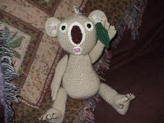 "Through trial & error, this is the final version of my koala. He's so huggable. He measures 16"" from head to foot."