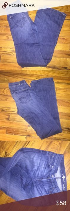 7 for all man kind jeans Blue denim 7 for all man kind jeans like new great condition 7 For All Mankind Jeans Boot Cut