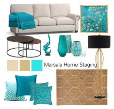 Moodboard turquoise by Marsala Home Staging on Polyvore featuring interior, interiors, interior design, home, home decor, interior decorating, Hammary, Currey & Company, Nikki Chu and Safavieh