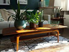 Mid century modern teak coffee table.  MCM.  www.perryscorners1855.com