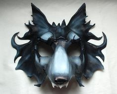 Direwolf Game of Thrones House of Stark Leather Gmork Cosplay Wolf Mask -- (Made to Order)