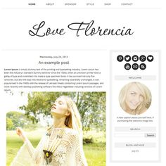 Premade Blogger Template  Instant Download  by ShinyMagic on Etsy