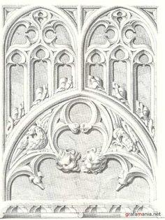 Альбом архитектурных орнаментов в готическом стиле