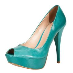 Peep Toe Cravo Verde - Roupas e Sapatos Femininos | Olook