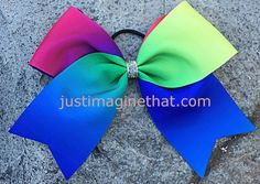 3 Width Cheer Bow 7x7 Texas Size Primary by JustImagineThatBows
