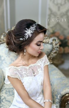 DESPOINA Starfish headband For Destination Wedding - beach wedding hair starfish accessories by TopGracia