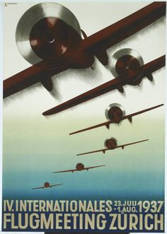 4th International Aviation Meeting Zurich  by Otto Baumberger 1937