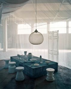 Faye Toogood creates ethereal beauty in this instalation. An amazing stylist and now creator of her own furniture line.