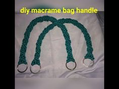 How to make macrame bag handle # design 2 - YouTube