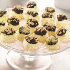 Frozen Cheesecake Bites Recipe -- all the taste of cheesecake, but less hassle in serving a group.