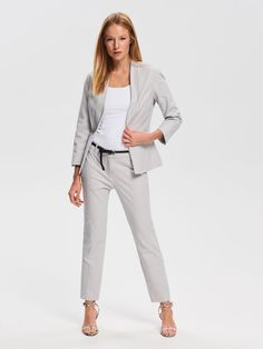 Nakupujte online! Pukové nohavice, RESERVED, VB711-09X Elegant Outfit, Smart Casual, Trousers, Suits, Style, Fashion, Trouser Pants, Swag, Moda