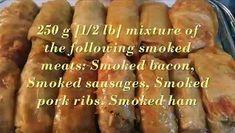Sarma Recipes + @dailymotion Smoked Pork Ribs, Smoked Bacon, Sarma Recipe, Long Grain Rice, Tomato Juice, Plum Tomatoes, Smoking Meat, Sauerkraut, Fresh Mint