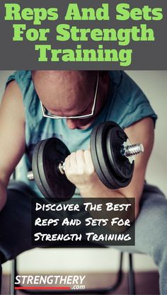 Do you know what are the reps and sets for strength training? Perhaps you are not doing the optimal reps and sets in the gym and could be missing out on strength and muscle gains. Find out how many reps and sets for strength training here! Weight Training For Beginners, Strength Training Workouts, Burn Fat Build Muscle, Gain Muscle, Bodybuilding For Beginners, Strength Training Women, Gym Workout Plan For Women, Look 2017, Reps And Sets