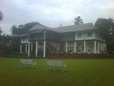Maijan Tea Estate heritage bungalow (Dibrughar, Assam) photo taken just after a devastating flood. Courtesy Abhishek K. Behl